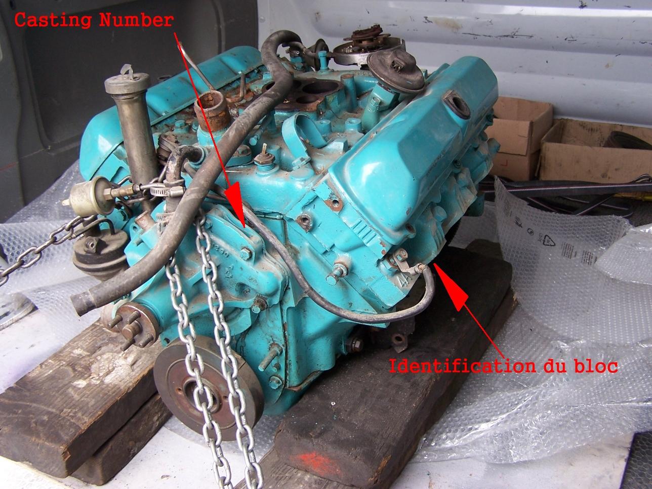 Identification du moteur :
